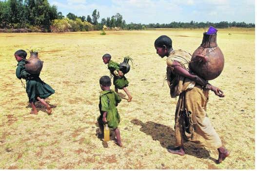 Droogte in Ethiopië.