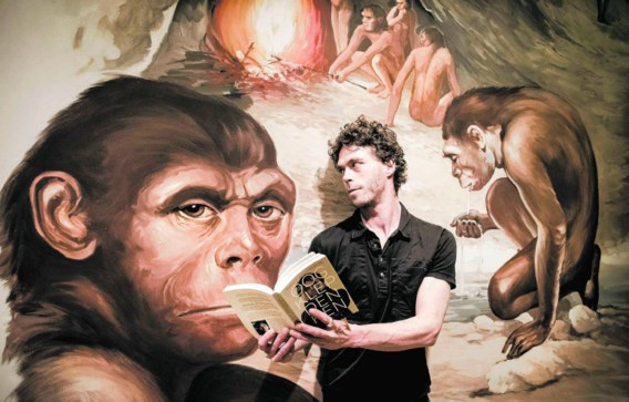 Ruben Mersch in het wetenschapsmuseum De Wereld van Kina in Gent: 'Mijn boek is een afrekening met zekerheden'.