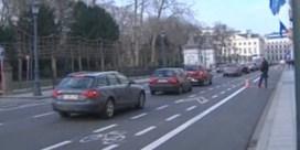 Lege parking voor politici in Wetstraat veroorzaakt pak files