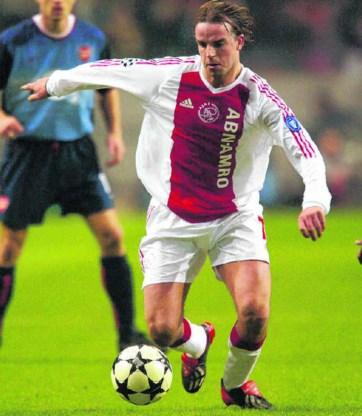 Andy Van der Meyde als jonge voetbalster bij Ajax in de Champions League 2003.