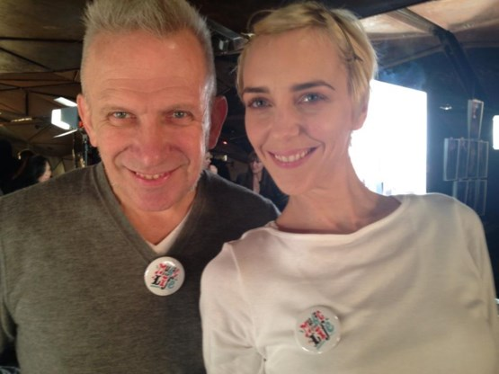 Ook Jean Paul Gaultier steunt 'Music for Life'
