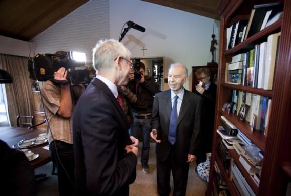 Het bezoek van Herman Van Rompuy ontroerde de gewezen Belgische premier Leo Tindemans.