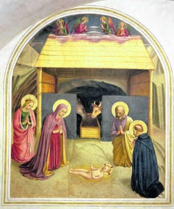 'De geboorte', van de 15de-eeuwse schilder Fra Angelico.