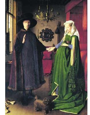 Het Arnolfiniportret van Jan van Eyck.