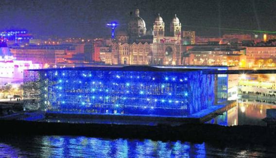 <P>Het Mucem, het gloednieuwe 'museum voor Europese en mediterraanse beschavingen' opent in juni de deuren, maar is nu al een blikvanger.</P>