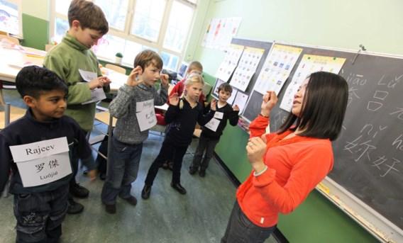 Krijgen jongeren in het secundair binnenkort Chinese les, net als dit groepje hoogbegaafde kinderen in Nederland?