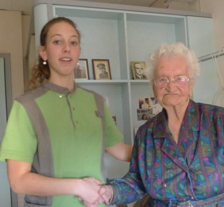 Germaine Borremans verhuisde na WO I met haar gezin van Ieper naar Heule. Hun huis in Ieper was kapotgeschoten.