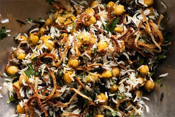RECEPT. Basmati & wilde rijst met kikkererwten, krenten & kruiden