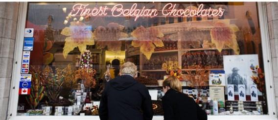 Een chocoladewinkel in Ieper: 'De herdenking van de Groote Oorlog gaat er niet om meer pralines te verkopen.'