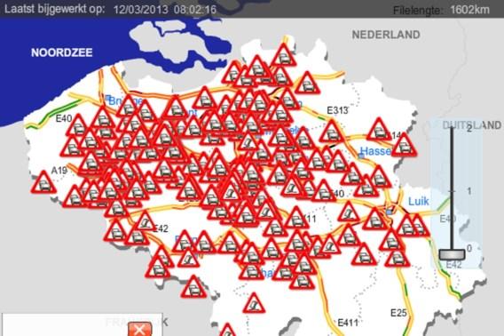 Filerecord op Belgische snelwegen verpulverd