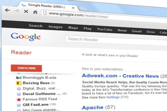 Google stopt met RSS-reader in zomer