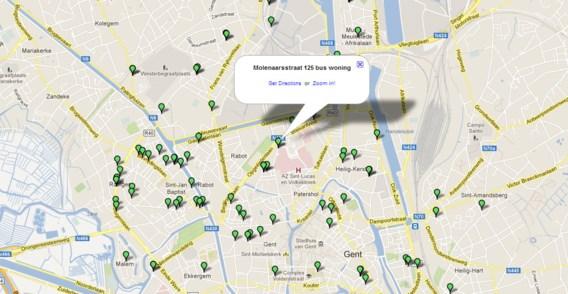 Krakers kiezen leegstaande panden... op Google Maps