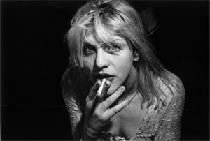 Courtney Love, de vrouw van Nirvana-zanger Kurt Cobain.