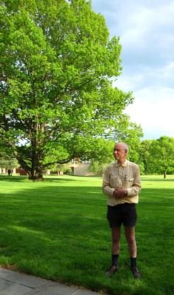 Pierre Deligne op de campus van het Princeton Institute for Advanced Studies in de Amerikaanse staat New Jersey.