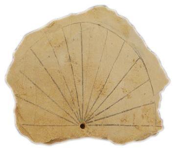Zonnewijzer uit de dertiende eeuw voor Christus.