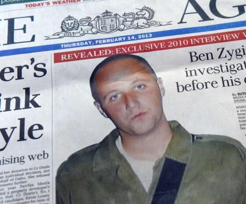 De zaak-Ben Zygier maakte grote krantenkoppen in Australië.