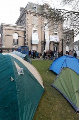 De tenten van de actievoerders.