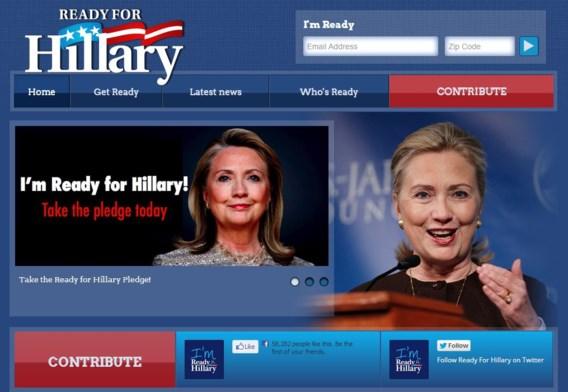 Amerikanen zijn al readyforhillary.com