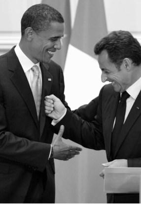 Obama met Sarkozy.