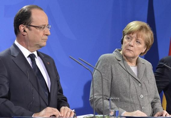 François Hollande en Angela Merkel: een tandem die uit elkaar aan het vallen is.
