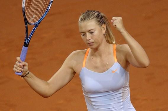 Maria Sharapova is eerste finaliste in Stuttgart