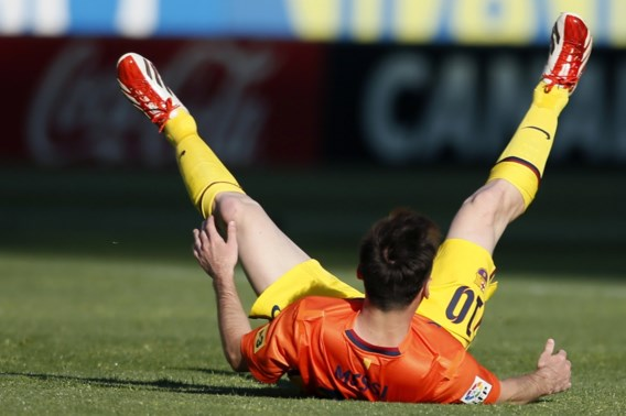 Messi heeft opnieuw last van rechterdijbeen