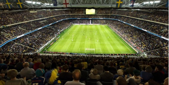 De Friends Arena in Stockholm zou model staan.
