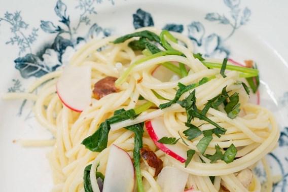 RECEPT. Spaghetti met radijzen