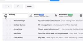 Google vernieuwt Gmail met tabbladen