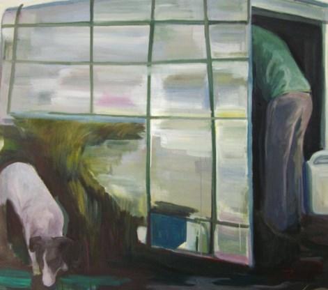Voor 'Il ghetto' liet schilder Nicola Dinoia zich inspireren door een vluchtelingendorp nabij Foggia.
