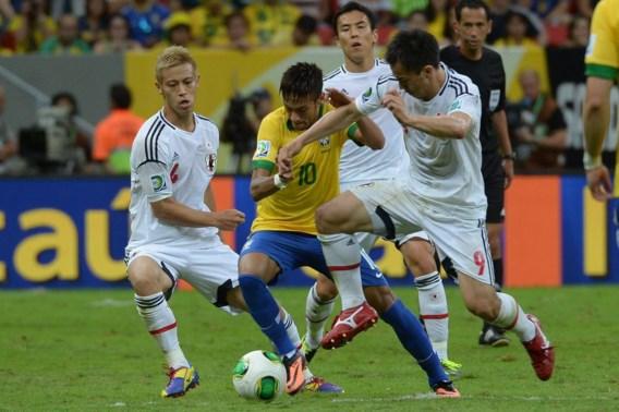 Brazilië opent Confederations Cup met eenvoudige zege tegen Japan