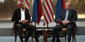 Obama en Poetin raken het niet eens over Syrië