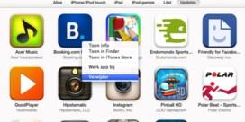 Overbodige iOS-apps wissen tijdens het updaten