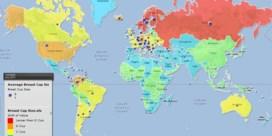Waar wonen de vrouwen met de grootste borsten, de grootste dronkaards en de hoogste IQ's?