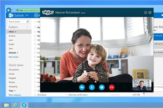 Microsoft brengt Skype en Outlook.com samen