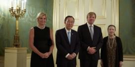 Ban Ki-moon op de koffie bij Nederlands koningspaar