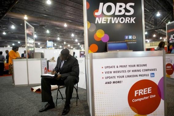 Amerikaanse werkloosheid zakt traag