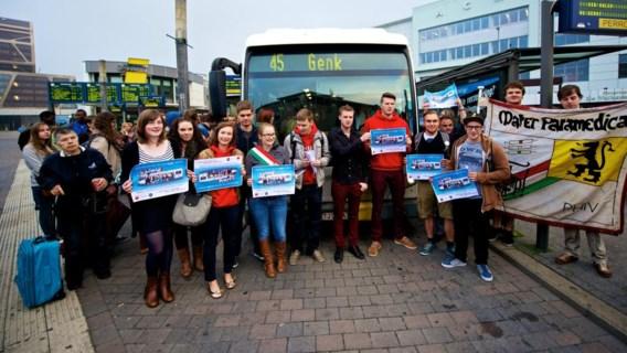 Zowel studenten van de KHLim, PXL als de UHasselt voerden gisteren actie aan het Hasseltse station.