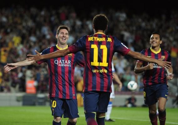 PRIMERA DIVISION. Neymar en Messi scoren, Courtois wint ook