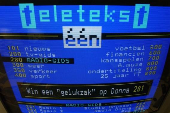 Aantal gebruikers VRT-teletekst gehalveerd