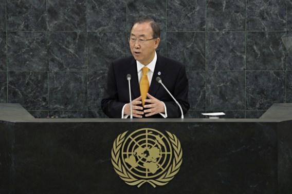 Ban Ki-moon vraagt bindende resolutie voor chemische wapens in Syrië