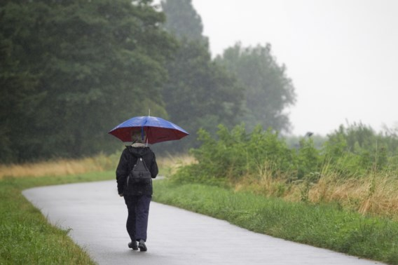 Minder extreme regen verwacht