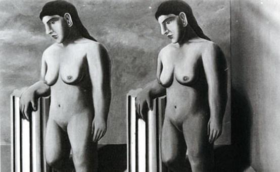 'La pose enchantée': versneden en overschilderd.