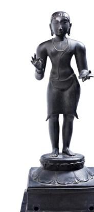 Een 10de-eeuws bronzen beeld uit  het Nationaal  Museum in Delhi.
