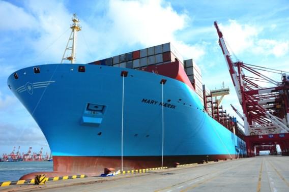 Grootste containerschip aangemeerd in Antwerpse haven