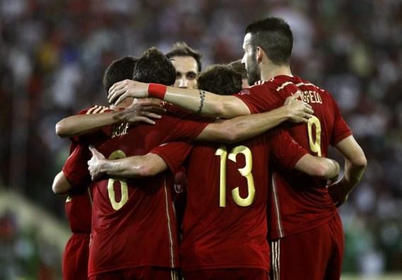 Spanje boekt magere zege in oefeninterland