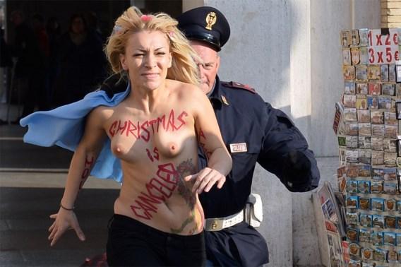 Femen laat opnieuw van zich horen in Rome