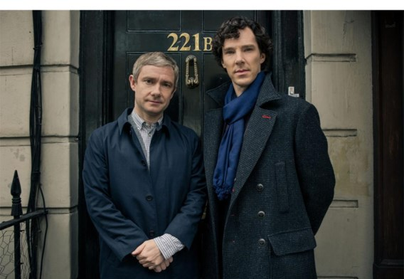 Martin Freeman (Dr. John Watson) en Benedict Cumberbatch (Sherlock Holmes).