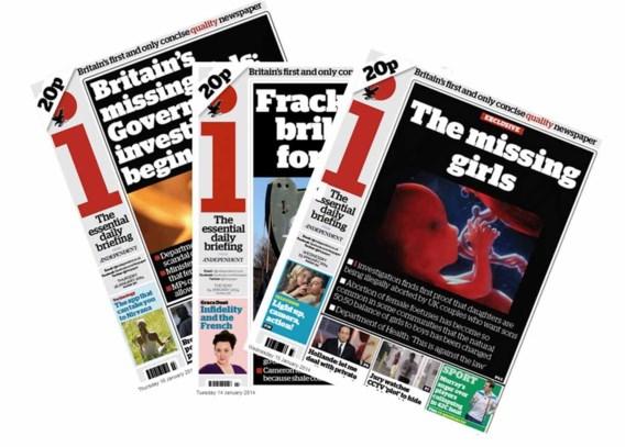 'Britse krant The Independent in de etalage'