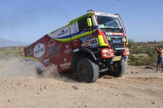 Belgische trucker moet opgeven na crash in Dakar-rally